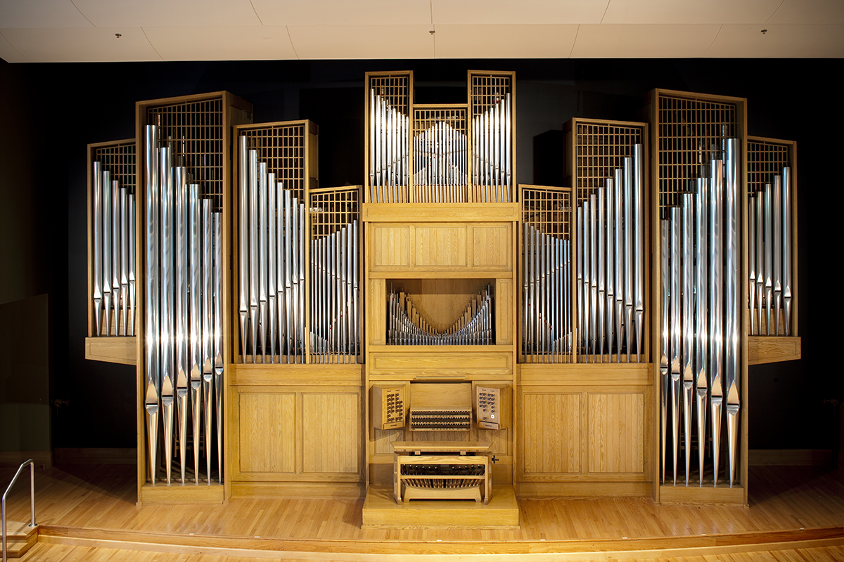 Casavant Organ pictured inside Organ Recital Hall