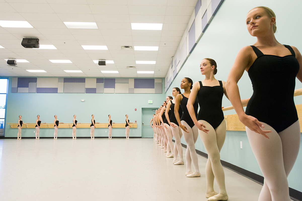 Students pictured in the dance studio