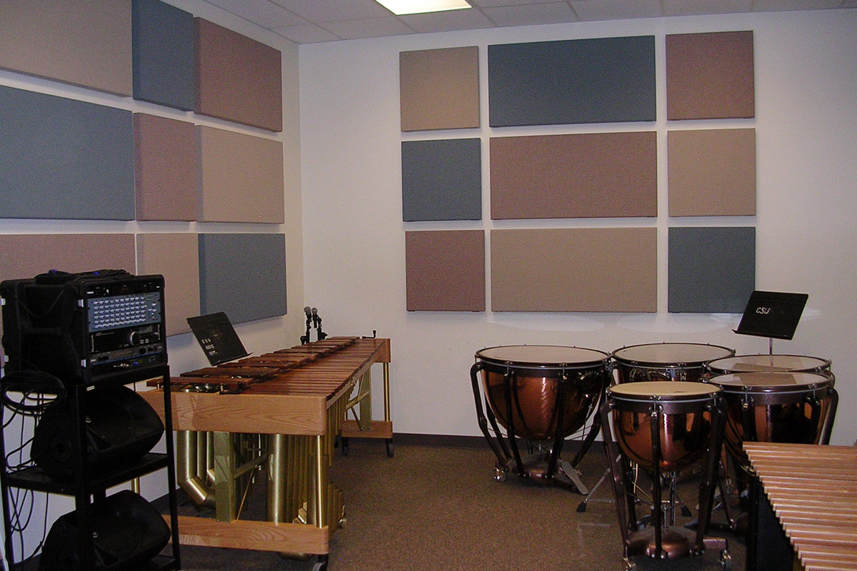 Percussion Wing room pictured