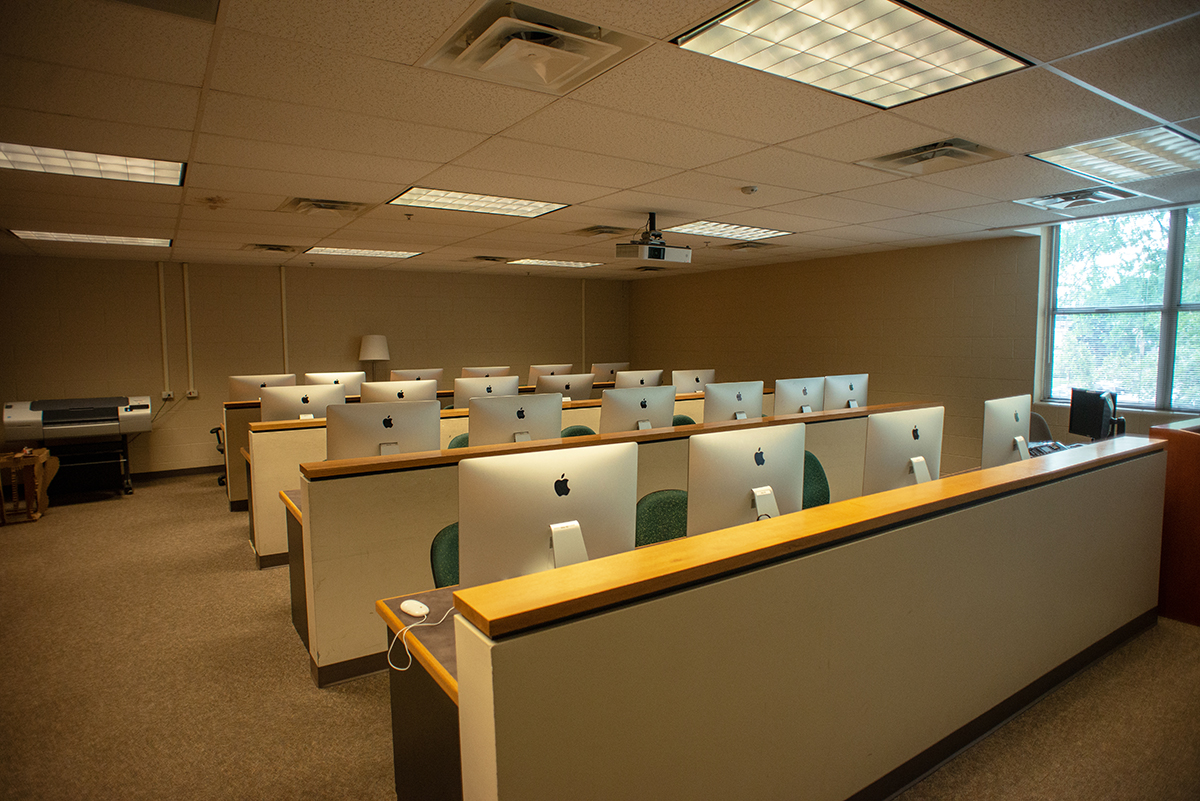 University Center for the Arts Audio/Video Lab pictured