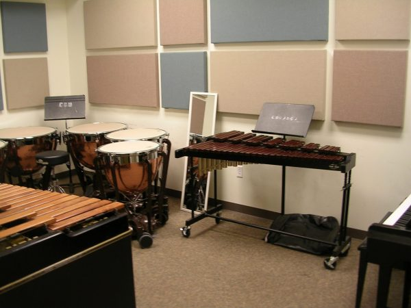 Percussion practice room G118A pictured