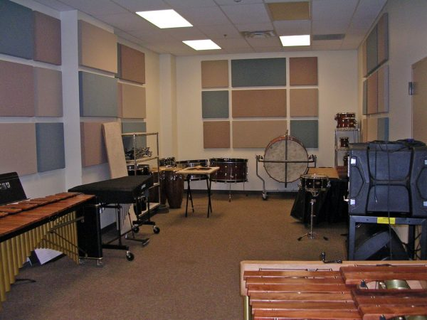 Percussion practice room G118C pictured