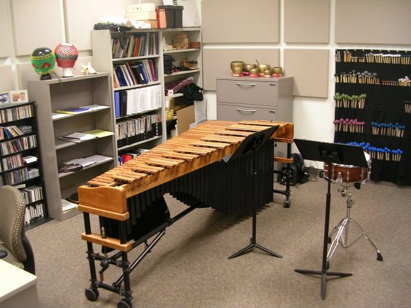 Percussion practice room G118D pictured