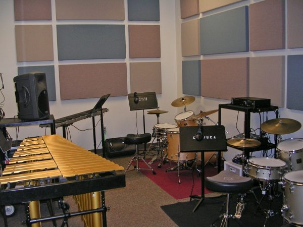 Percussion practice room G118E pictured